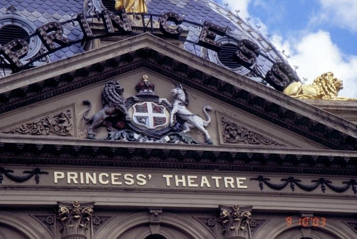 h00093 princess theatre spring street melbourne coat of arms