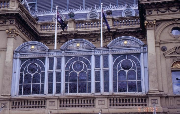 h00093 princess theatre spring street melbourne stained glass windows
