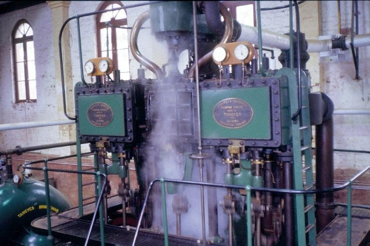 h00548 psyche bend pumping station psyche bend mildura engine room close up she project 2003