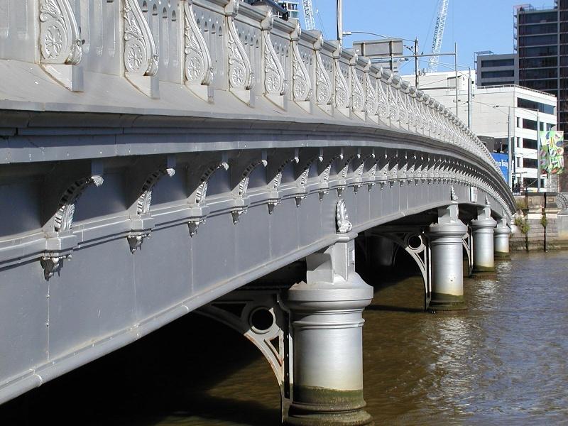 h01448 queens bridge queensbridge street over yarra river melbourne close view