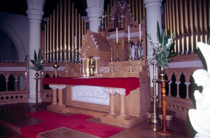 h01026 st mary of the angels catholic church yarra street geelong high altar she project 2003