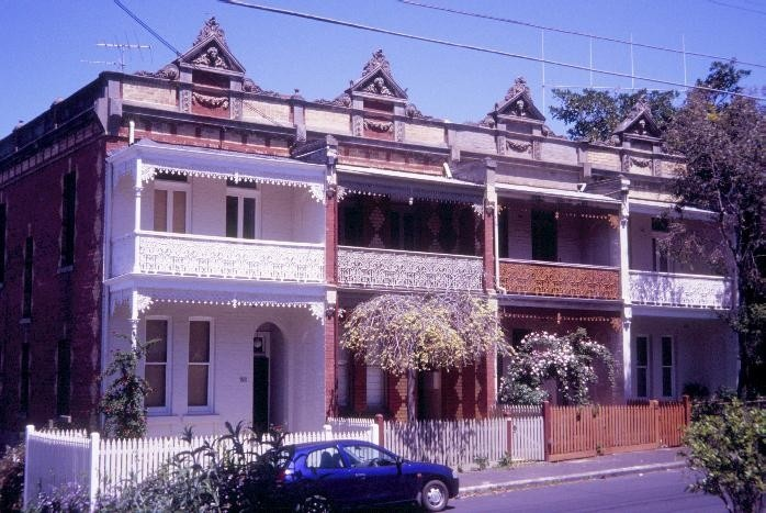 h01774 1 terrace houses clarke street northcote facade she project 2004