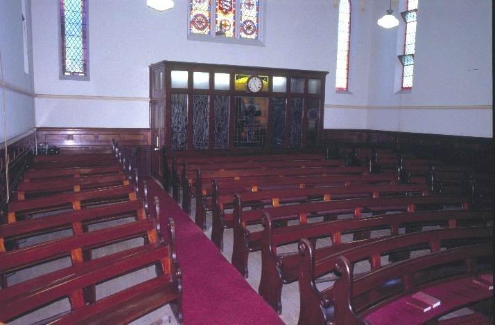 h00536 welsh church and hall latrobe street melbourne inside church facing back