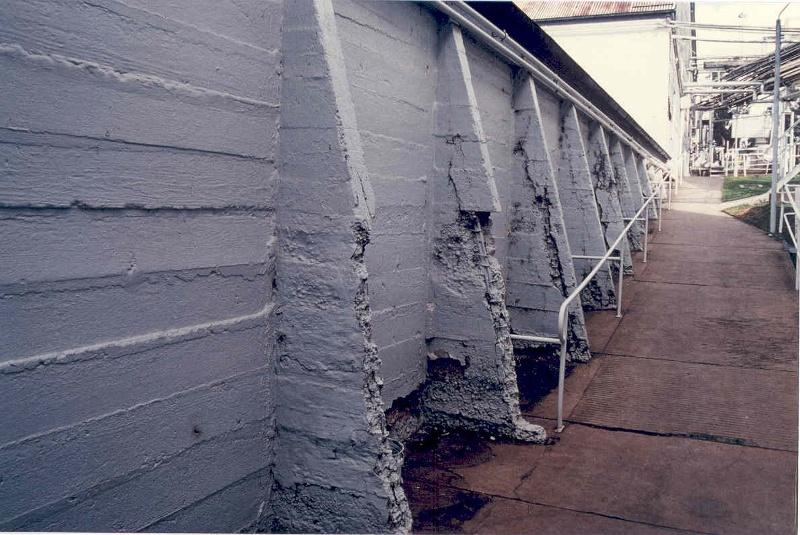 h01099 mildara blass distillery merbein wall of brandy store