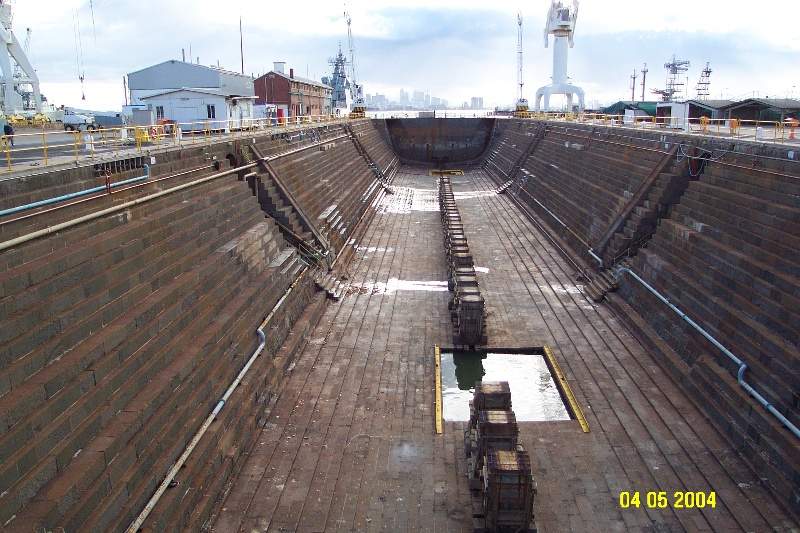 h00697 1 alfred graving dock williamstown dockyard williamstown wide view she project 2004