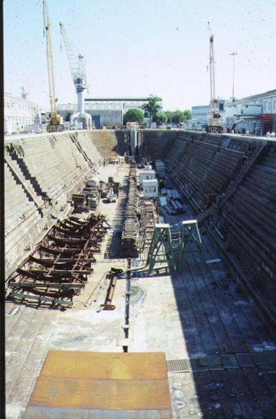 h00697 alfred graving dock williamstown dockyard williamstown front view