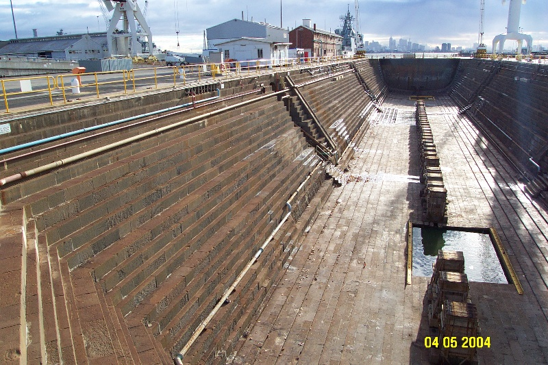 h00697 alfred graving dock williamstown dockyard williamstown side view she project 2004
