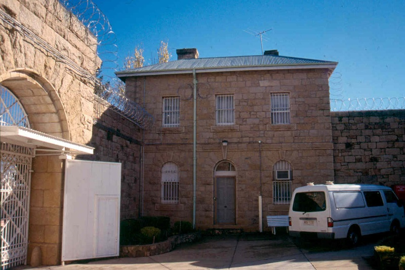 h01549 h m prison william street beechworth gaolers quarters and entry yard june2004
