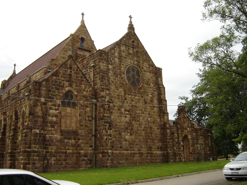 h01065 holy trinity anglican cathedral precinct wangaratta west side 2005