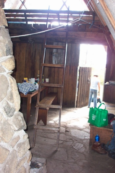 h00046 gantner hut sleeping loft and north door feb2005 as 008