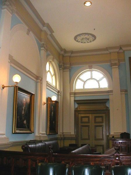 h00203 prahran town hall interior council chamber may05