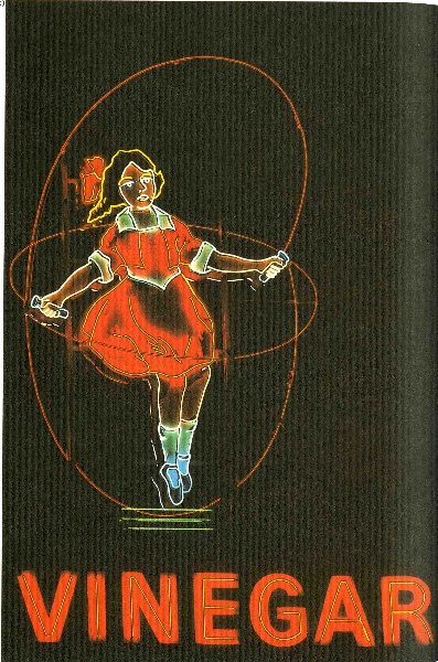 h02083 skipping girl illuminated