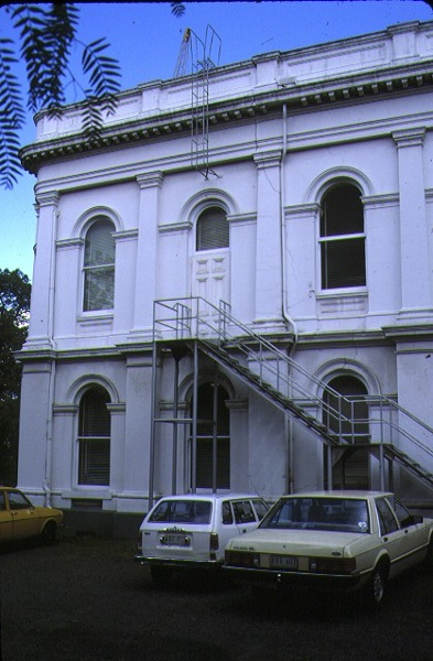 Royal Society Of Victoria Victoria Street Melbourne Rear View Oct 1986