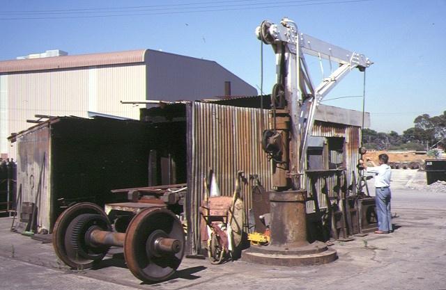 Former Railway Workshops Champion Road Newport Hydraulic Crane