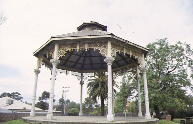 Footscray Railway Station Complex Irving Street Footscray Reserve Bandstand October 1998