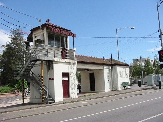 Swanston Street Tramway Signal Cabin February 2002