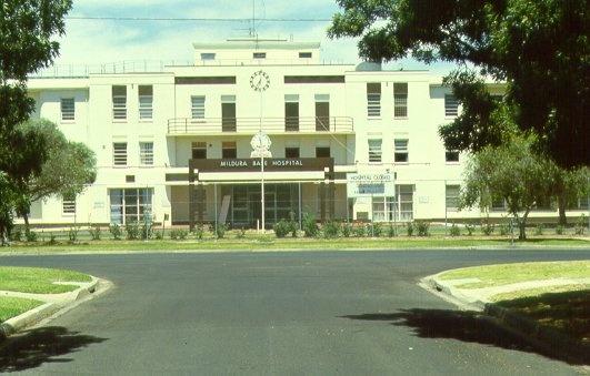 Former Mildura Base Hospital Main Entrance 2001