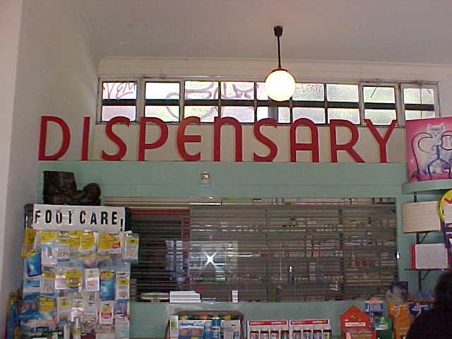 Callanans Chemist Interior Signage Dispensary June 2001