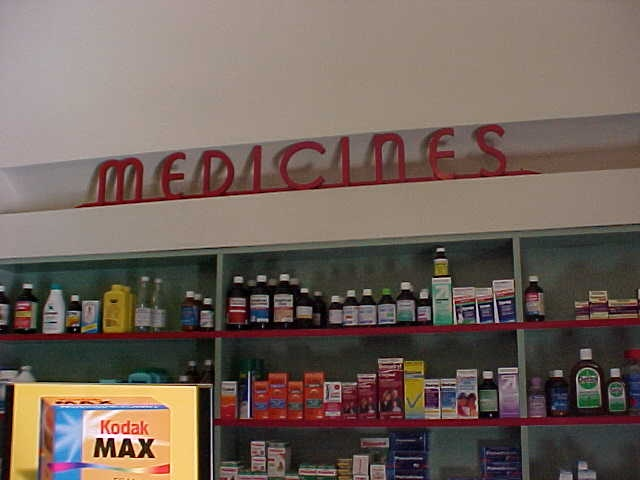 Callanans Chemist Interior Signage Medicines June 2001