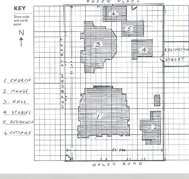 Uniting Church Plan of Buildings
