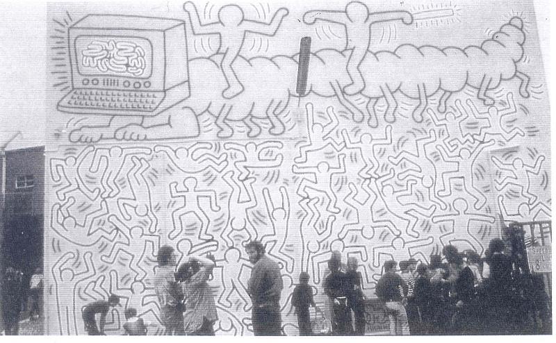 Keith Haring Mural Collingwood Making