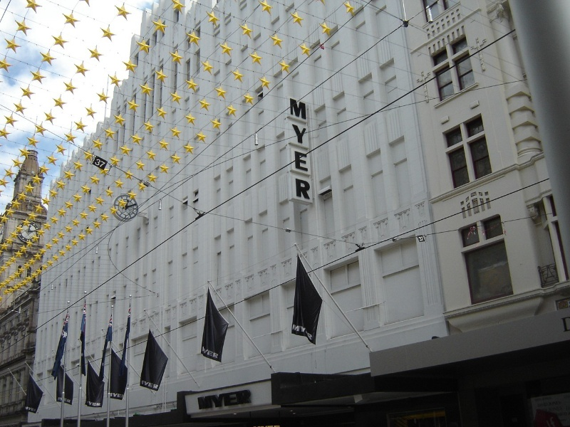 Myers Melbourne Bourke Street Facade January 2006