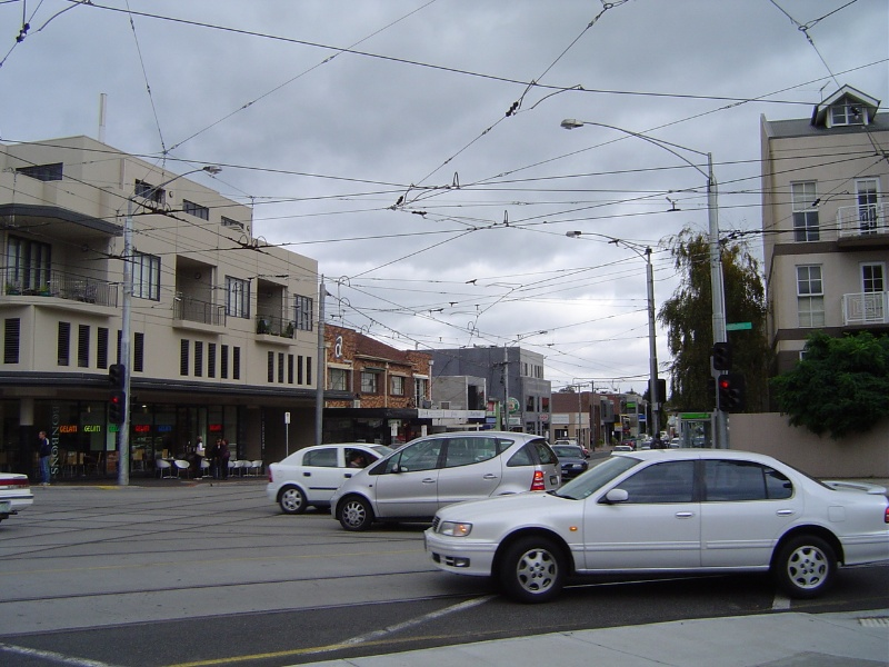 Grand Union Junction Caulfield overhead wires April 2006