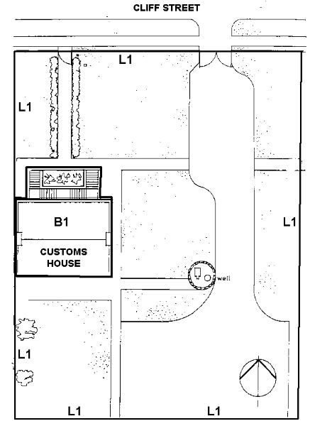 H1844 customs house portland plan
