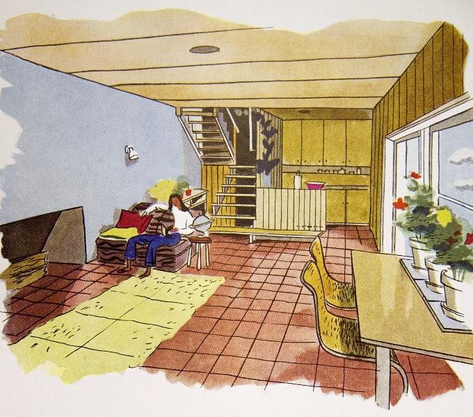 5345 Ramsay House Interior Circa 1944 02