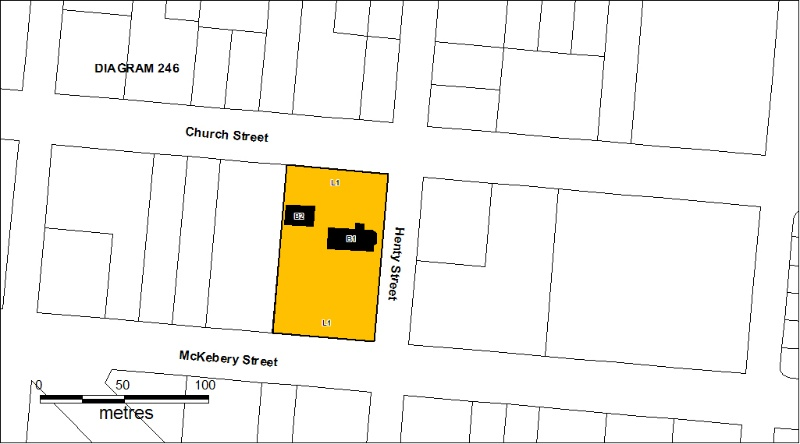 H0246 Holy Trinity Church Coleraine plan