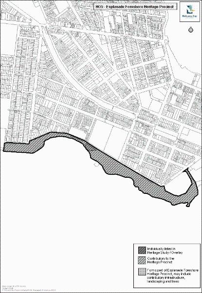 Esplanade Foreshore Heritage Precinct, Hobsons Bay Heritage Study 2006