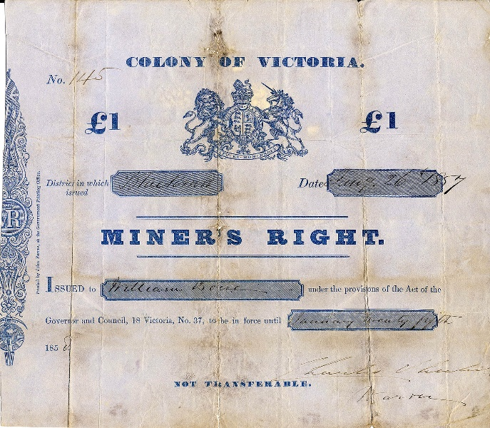 H2112 Miners Right 1857