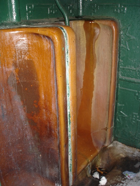 Urinal La Trobe Street terracotta stall KJ 21 06 2007