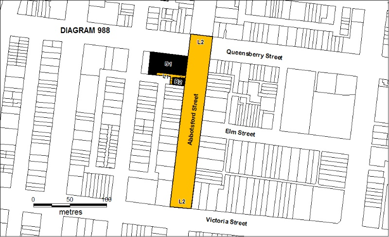 H0988 former cable tranway engine house tracks abbotsford street north melbourne plan