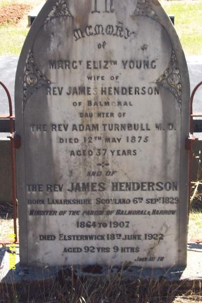 23260 Cemetery Balmoral Henderson Young 2112