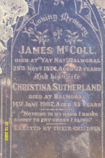 23260 Cemetery Balmoral McColl 2111