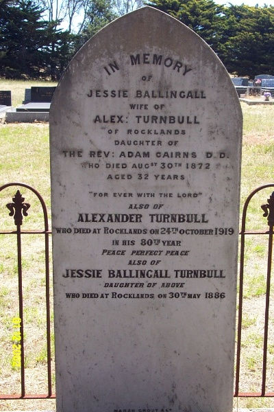 23260 Balmoral Cemetery Turnbull Cairns 2113