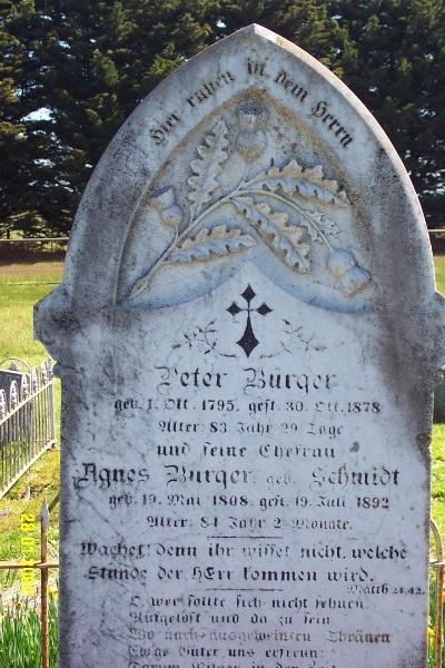 23443 Gnardenthal Cemetery Penshurst Burger 1461