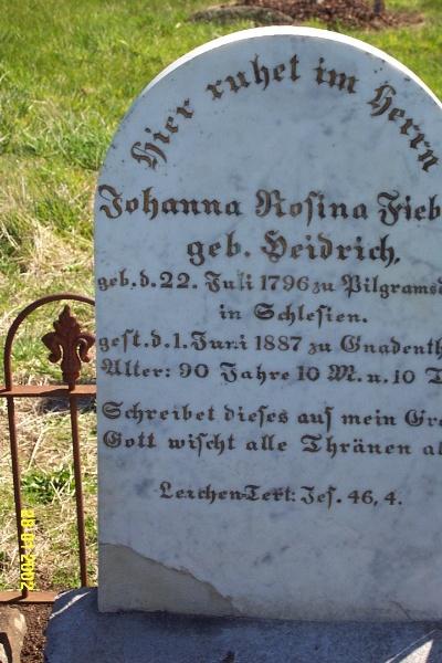23443 Gnardenthal Cemetery Penshurst Friebe Diedrich 1458