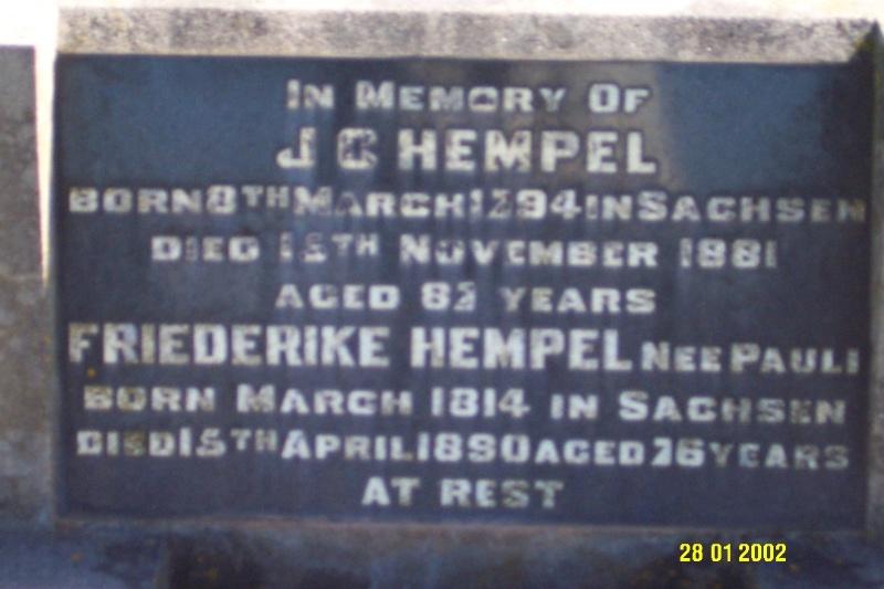 23443 Gnardenthal Cemetery Penshurst Hempel 1456