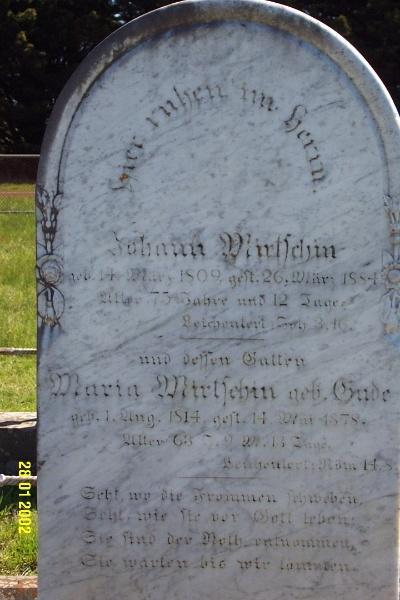 23443 Gnardenthal Cemetery Penshurst Mirtschen 1459
