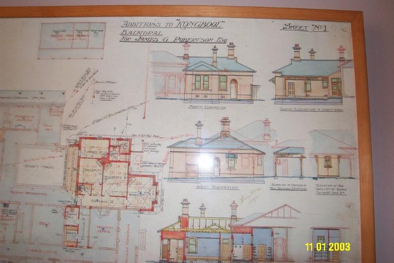 H0361 Kongbool Balmoral architect s dwgs 2377