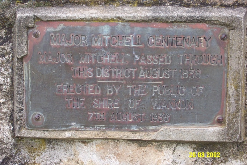 23179 Major Mitchell memorial Queens Park Coleraine 2044