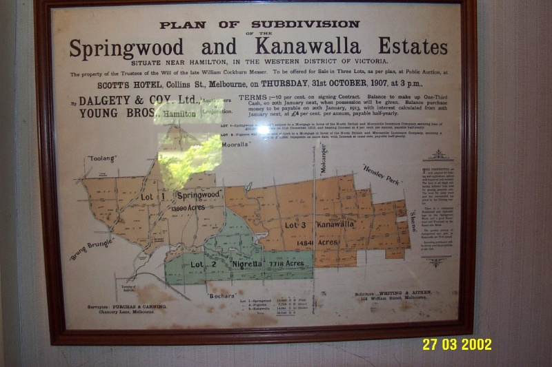 23205 Springwood Homestead Wannon subdivision map 2059