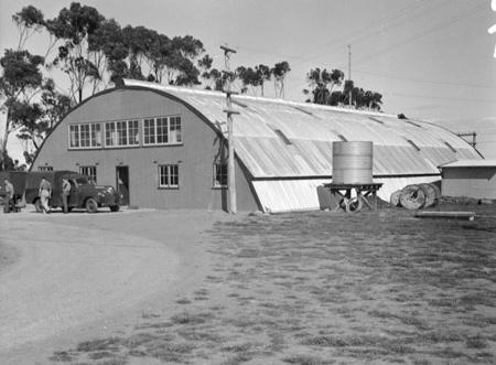Diggers Rest, 1945. 'Exterior view of the new Igloo Building housing land headquarters signals. (Australian War Memorial)