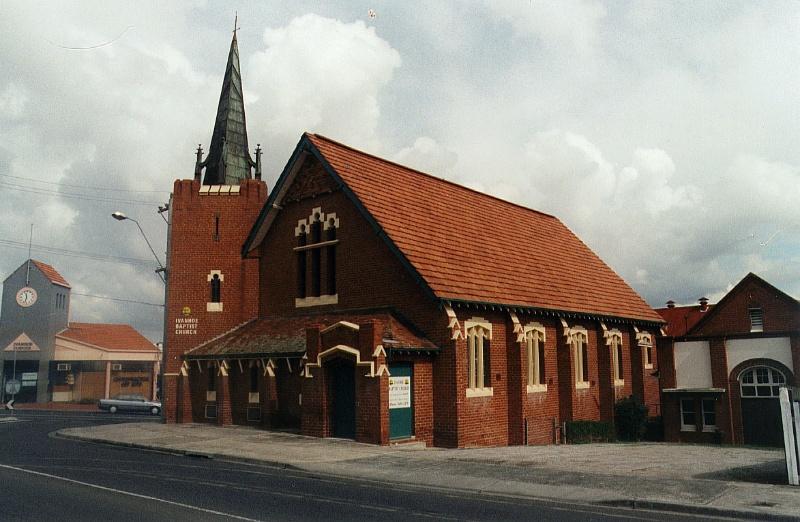 BAPTIST CHURCH AND SUNDAY SCHOOL