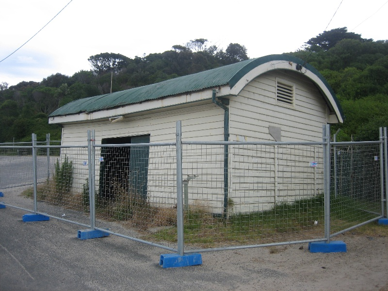 Former jetty cargo shed - view from north east, Jan 2008