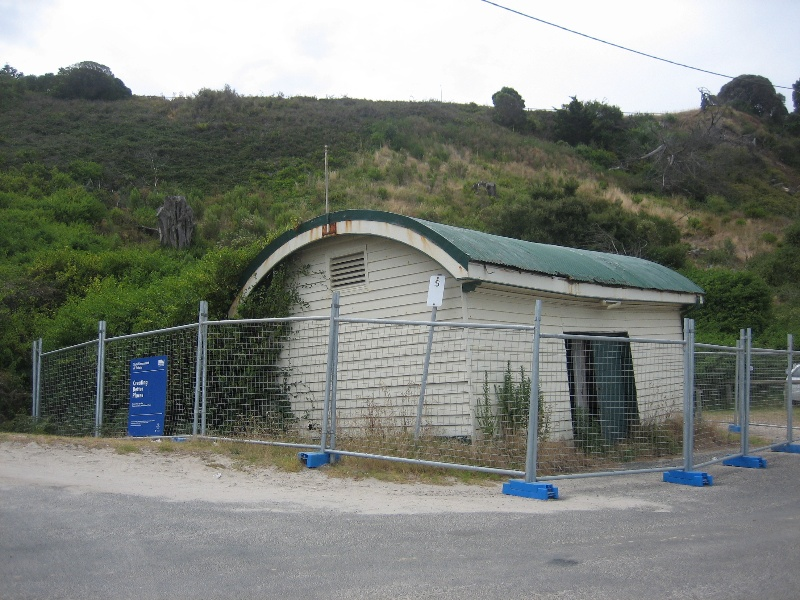 Former jetty cargo shed - view from south east, Jan 2008