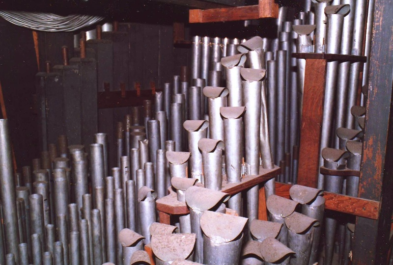 Merklin organ_view of pipes pipes when in Cato church