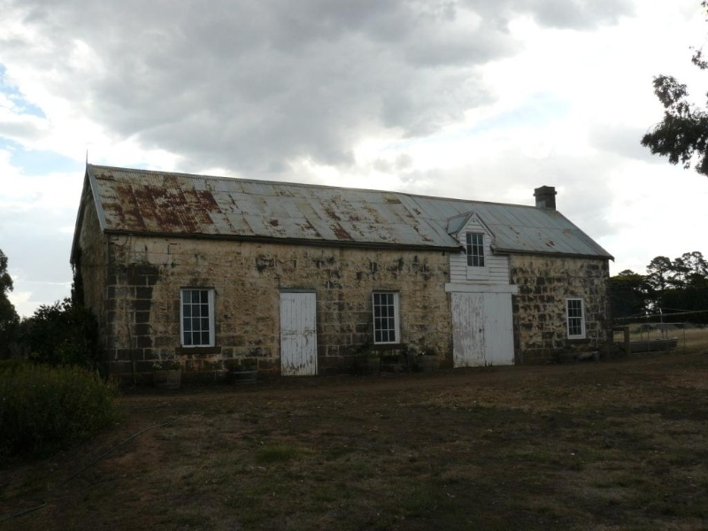 Old Stables, located north of new house.